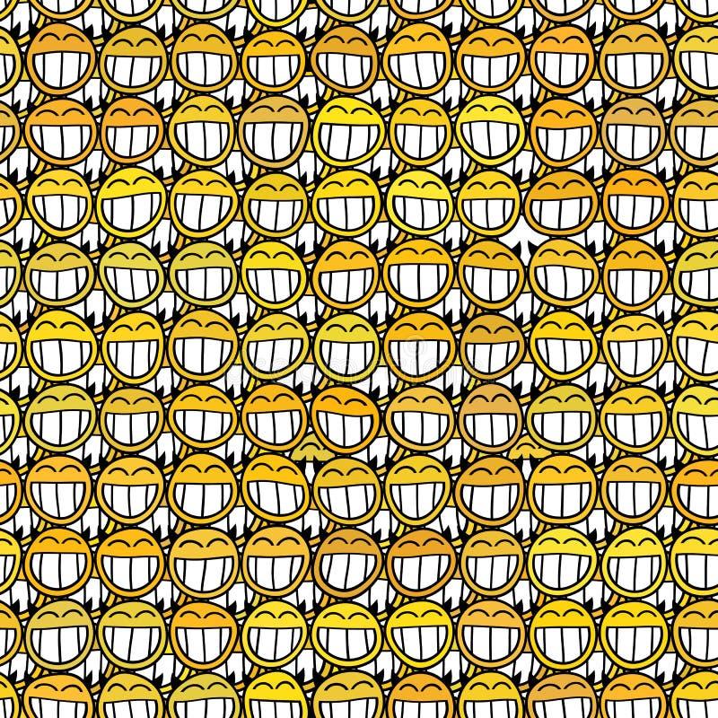 Smiley face seamless pattern stock illustration
