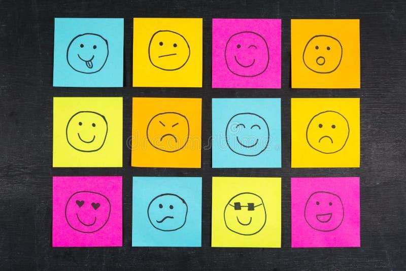 Smiley Face Sticky Notes fotos de stock