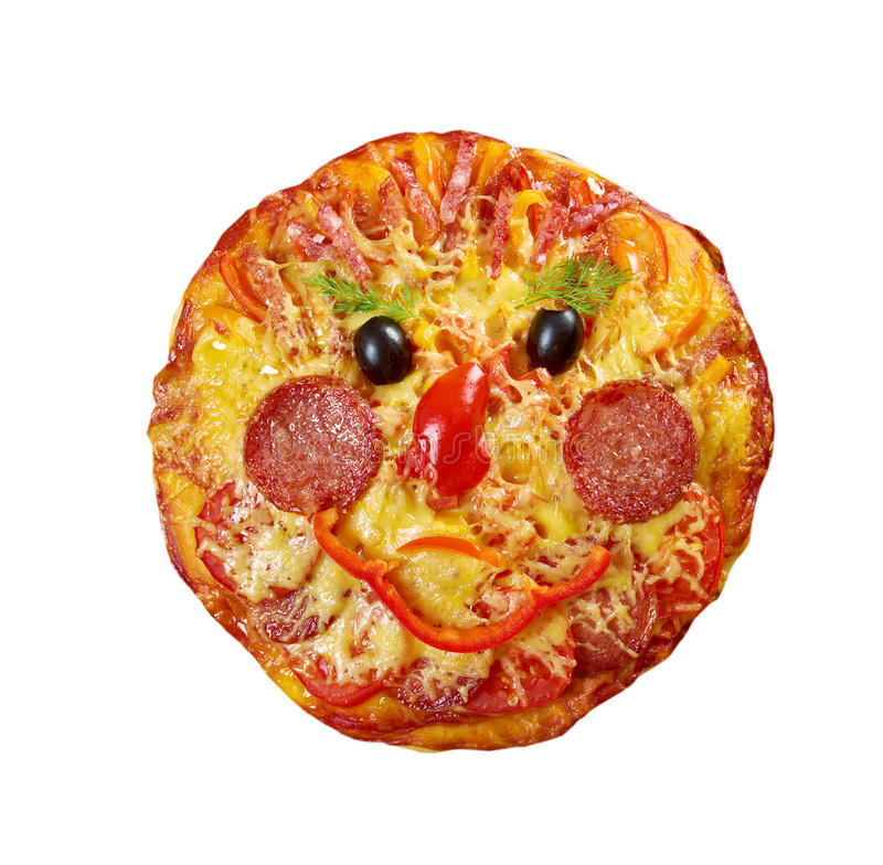 Smiley Faced Pizza images stock