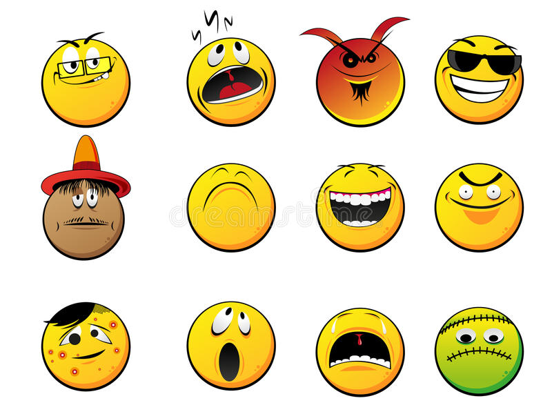 Smiley faces royalty free illustration