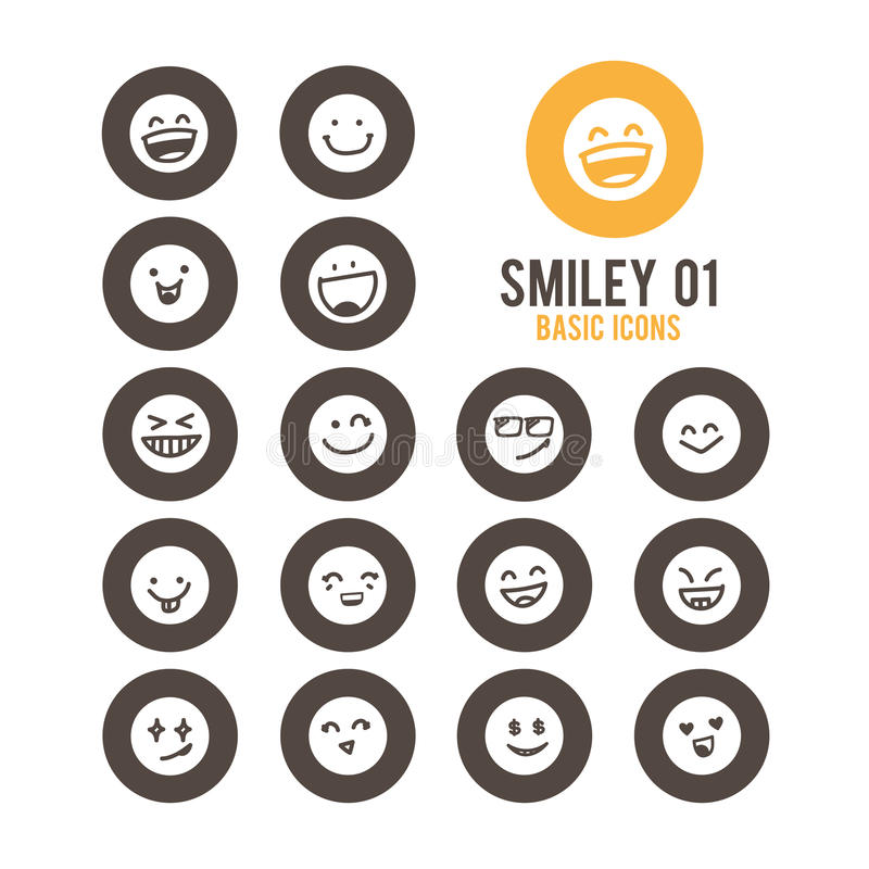 Smiley faces icon. Vector illustration. Smiley faces icon set. Vector illustration vector illustration