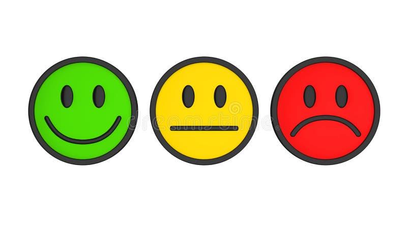 Smiley Faces Icons Isolated ilustração stock