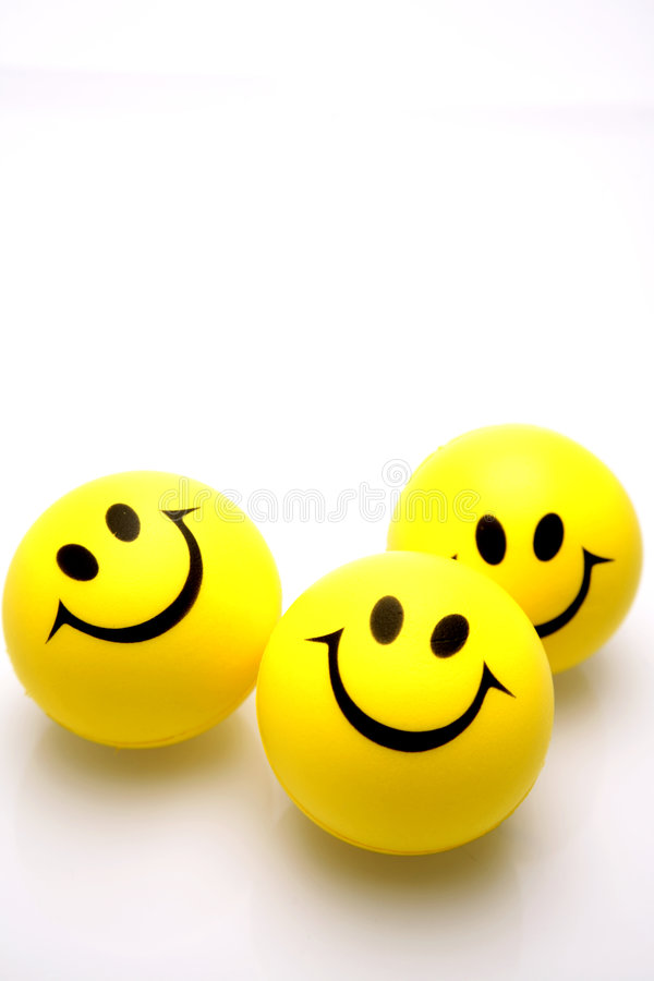 Download Smiley faces over white stock photo. Image of faces, joyful - 3628834