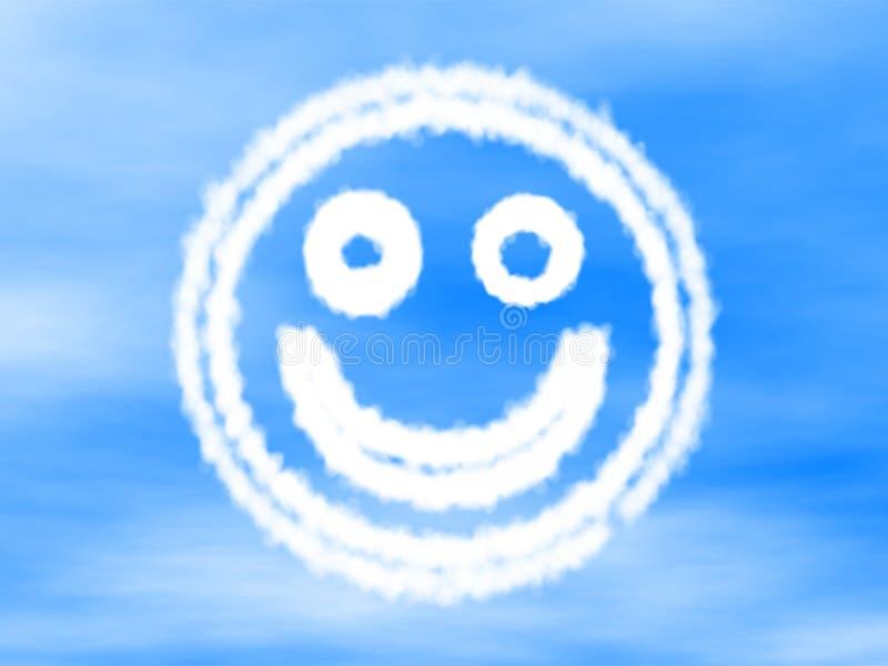 Smiley feito da nuvem fotografia de stock