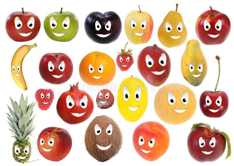 Smiley felices de la fruta stock de ilustración