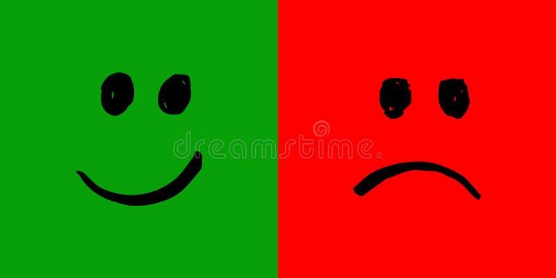 Download Smiley felices e infelices ilustración del vector. Ilustración de opinión - 100527836