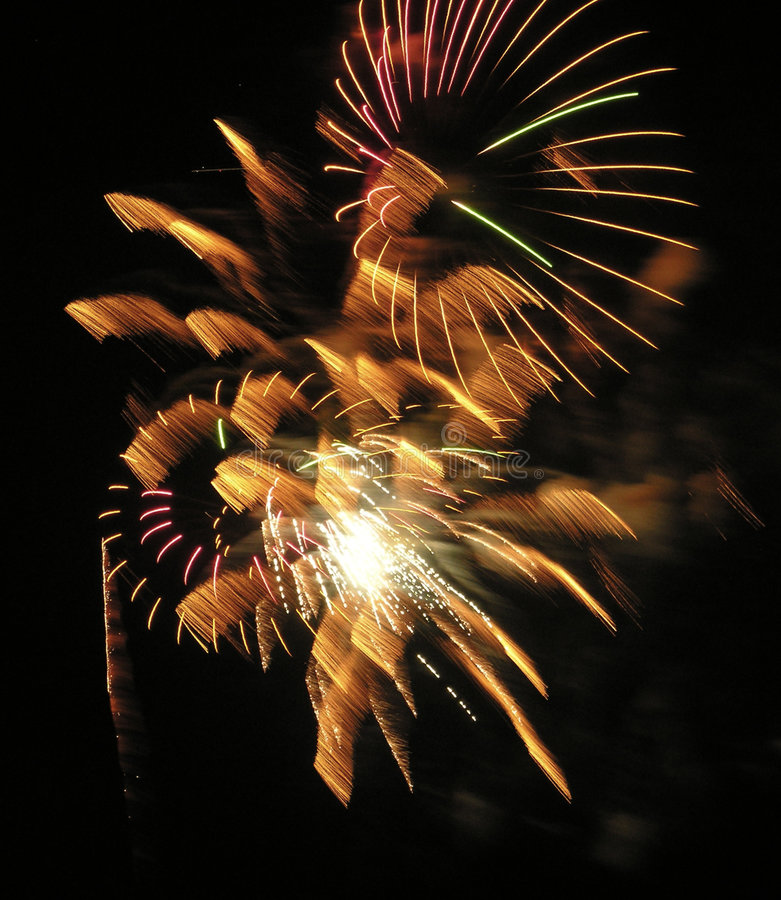 Smiley Fireworks. 4th of July fireworks with exploding smiley faces stock images