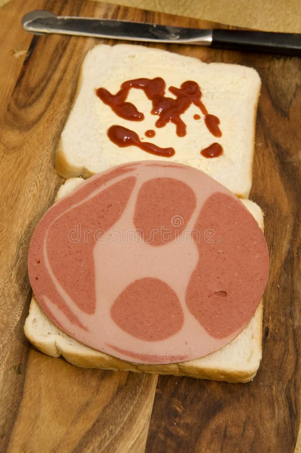 Download Smiley Fritz Sandwich stock image. Image of fritz, ketchup - 21140639