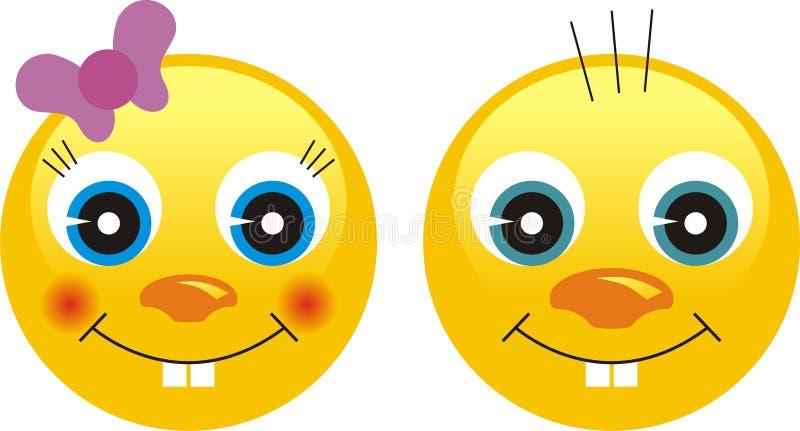 Smiley-Gefühl-Gesichter vektor abbildung