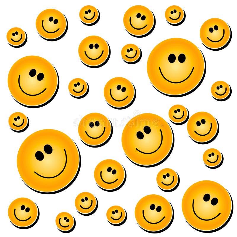 Smiley-Gesichts-Hintergrund-Weiß stock abbildung
