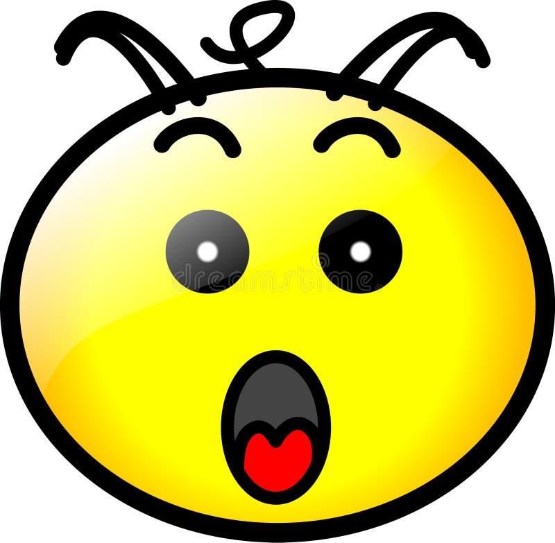 Smiley-Gesichts-Ikonen-vektorformat lizenzfreie abbildung