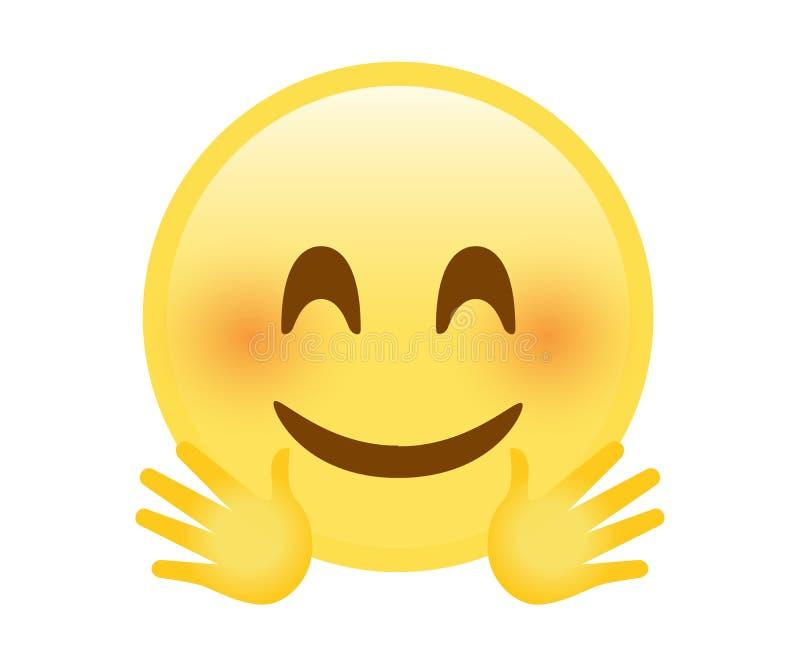 Gelber glücklicher smiley stock abbildung. Illustration