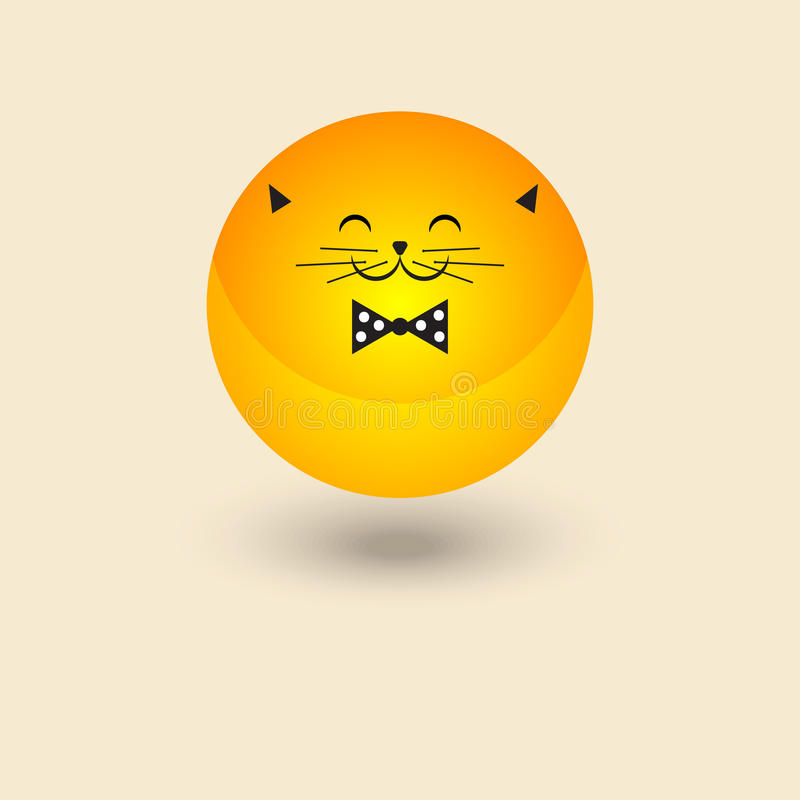 Smiley gordo del gato libre illustration