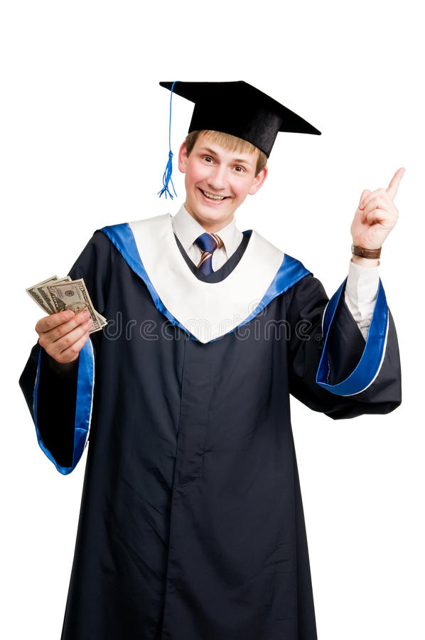 Download Smiley Graduate Student In Cloak Stock Image - Image: 17360055