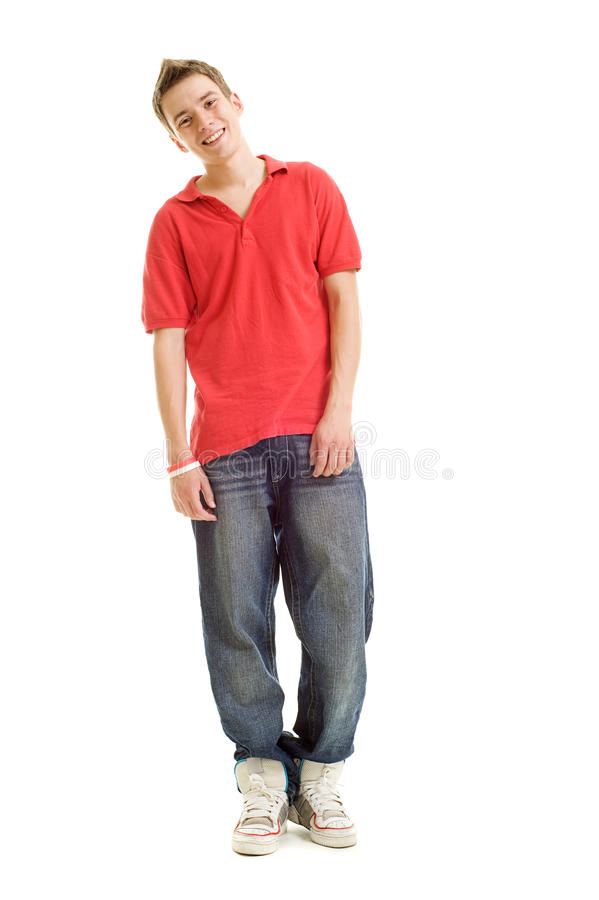 Smiley guy in red t-shirt royalty free stock images