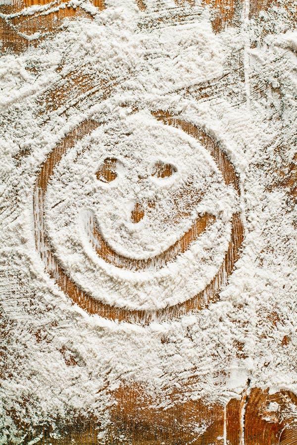 smiley handprints еды муки произведения искысства стоковые фотографии rf