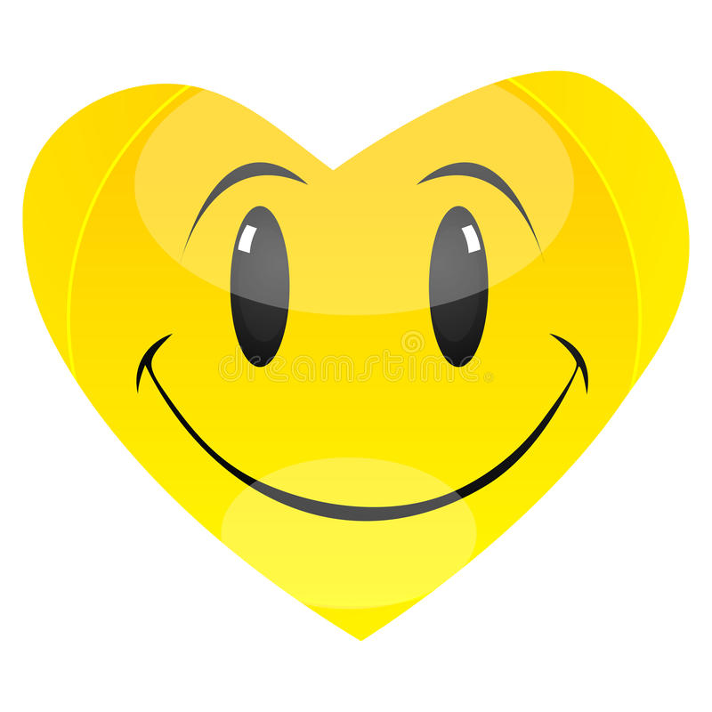 Download Smiley heart stock illustration. Image of graphic, pretty - 16775363