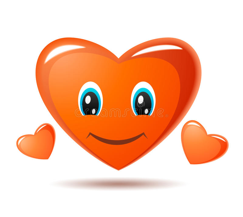 Smiley Heart. Vector Icon Royalty Free Stock Image