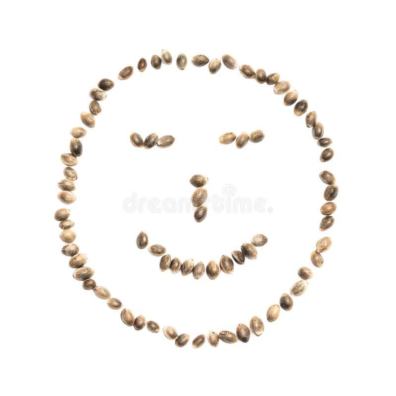 Smiley hecho de los cañamones fotos de archivo