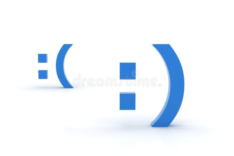 Smiley heureux et triste images libres de droits