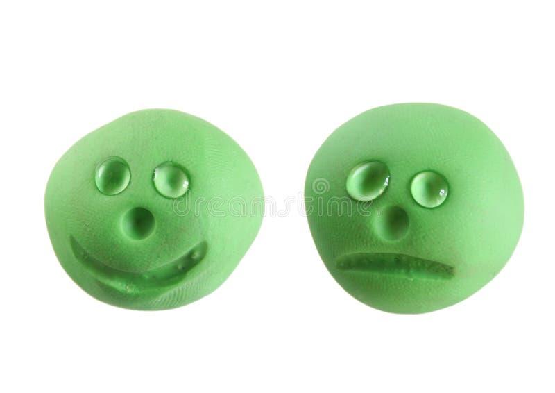 Smiley heureux/triste photos libres de droits