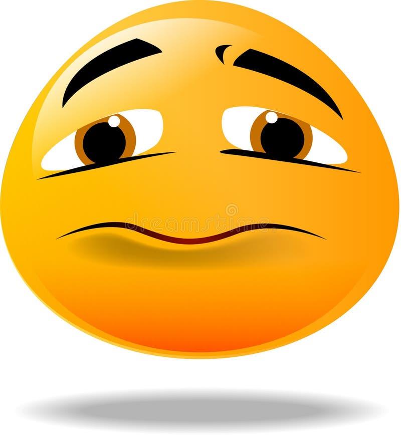 Smiley icon. Unhappy yellow smiley face icon