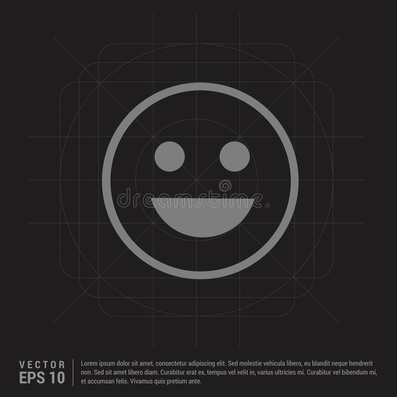 Smiley icon, Face icon - Black Creative Background. Free vector icon - This Vector EPS 10 illustration is best for print media, web design, application design stock illustration