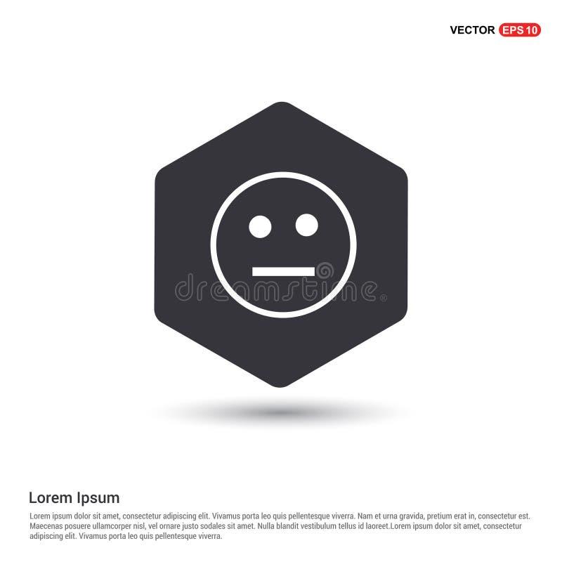 Smiley icon, Face icon Hexa White Background icon template. Free vector icon royalty free illustration