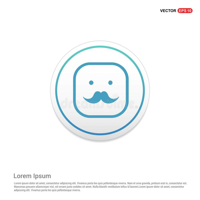 Smiley icon, Face icon Hexa White Background icon template. Free vector icon - This Vector EPS 10 illustration is best for print media, web design royalty free illustration