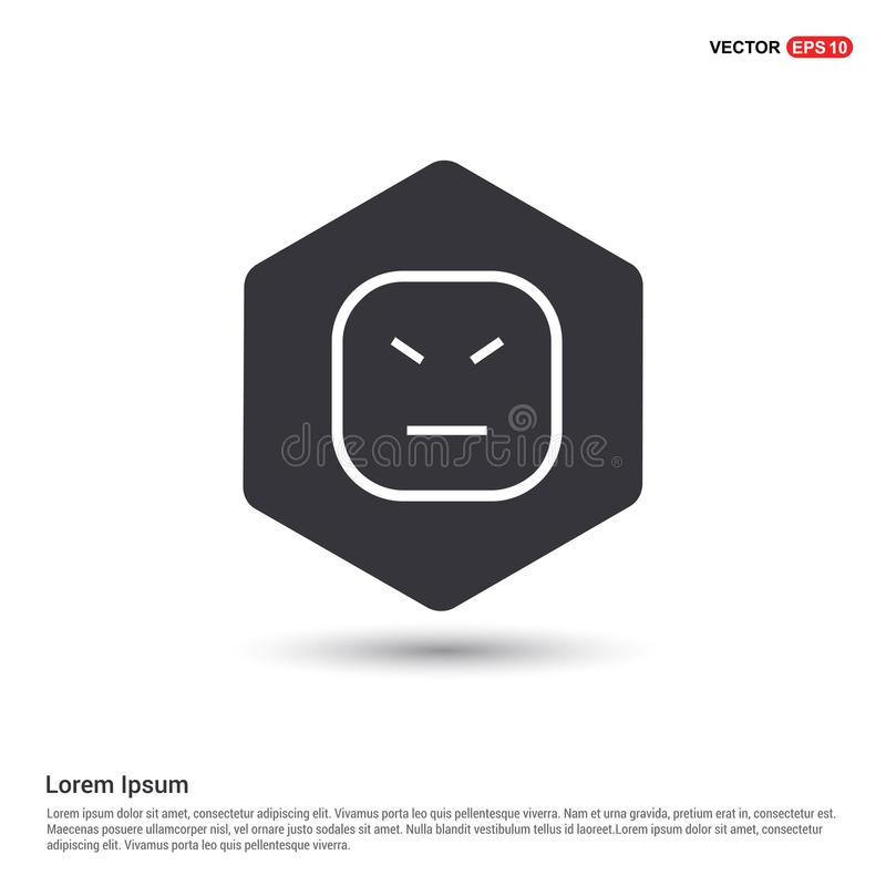 Smiley icon, Face icon Hexa White Background icon template. Free vector icon - This Vector EPS 10 illustration is best for print media, web design vector illustration