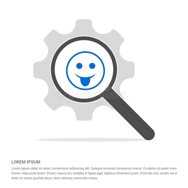 Smiley icon, Face icon Search Glass with Gear Symbol Icon templ. Smiley icon, Face icon - Free vector icon - This Vector EPS 10 illustration is best for print vector illustration