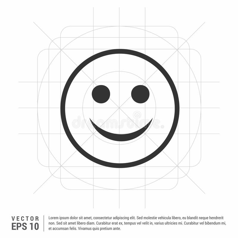 Smiley icon, Face icon. This Vector EPS 10 illustration is best for print media, web design, application design user interface and infographics with well stock illustration