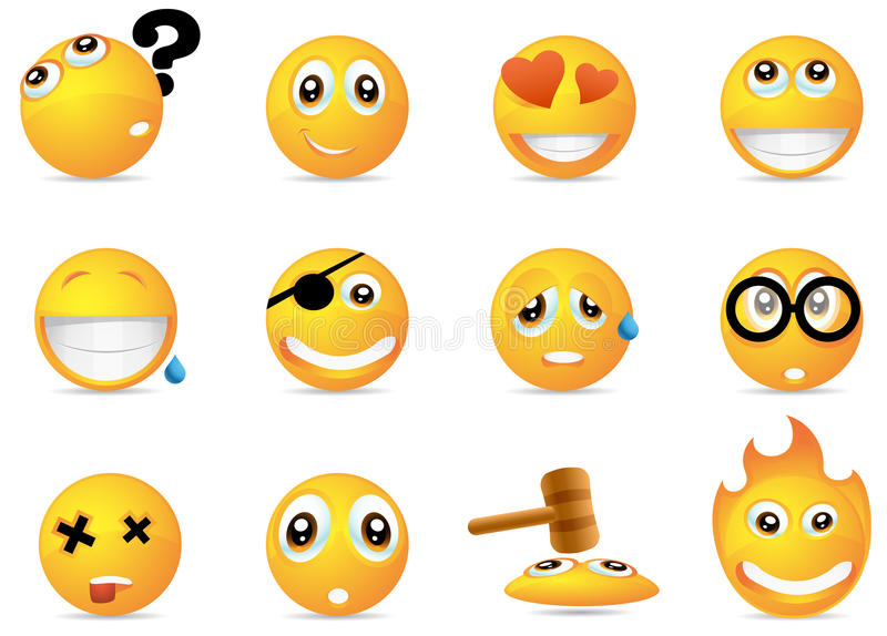 Smiley icons royalty free illustration