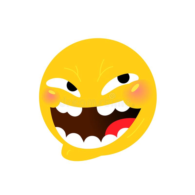 Smiley. Internet meme. Vector. Emotional smiley for expressions in social networks, chat rooms, messages, mobile and web. Applications. Emoji yellow face vector illustration
