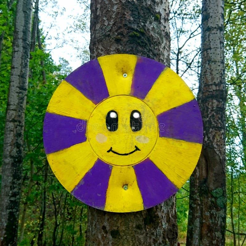 Smiley Jako celu obwieszenie Na drzewie obrazy royalty free