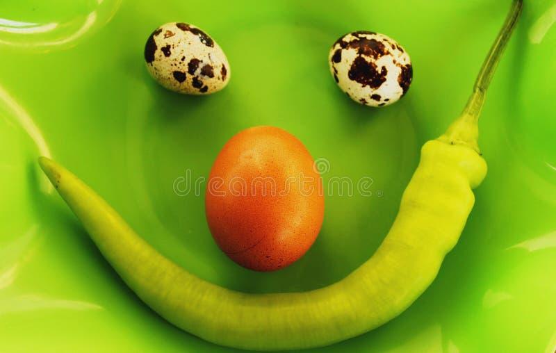 Smiley jedzenie zdjęcia stock