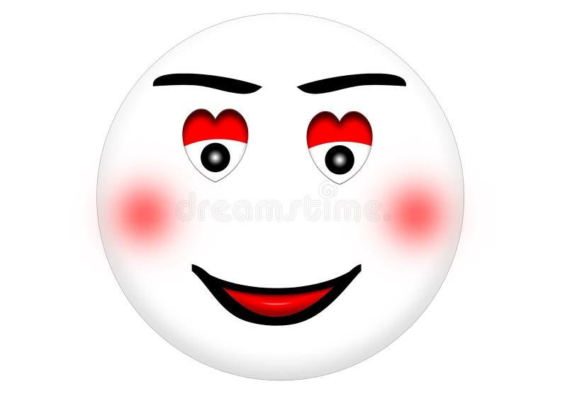 Smiley in Liefde stock fotografie