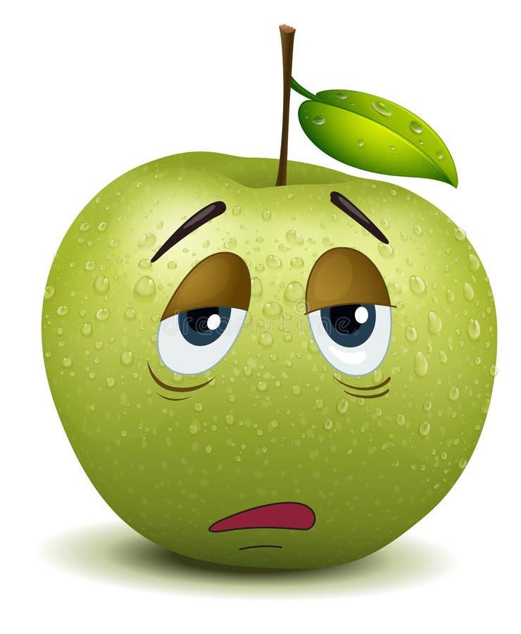 Smiley maçante da maçã ilustração do vetor