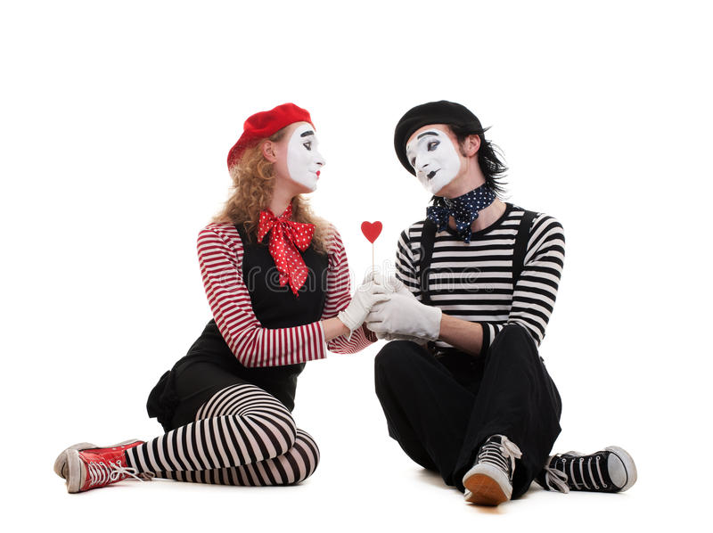 Download Smiley Mimes In Love Royalty Free Stock Images - Image: 14347999