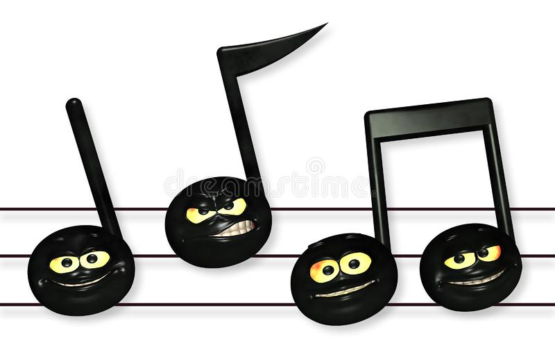 Smiley Music Notes Stockfotografie