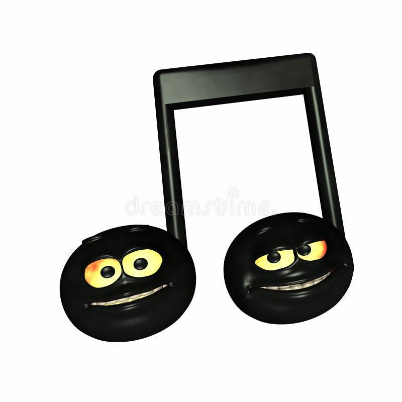 Smiley-Musik-Anmerkungen vektor abbildung