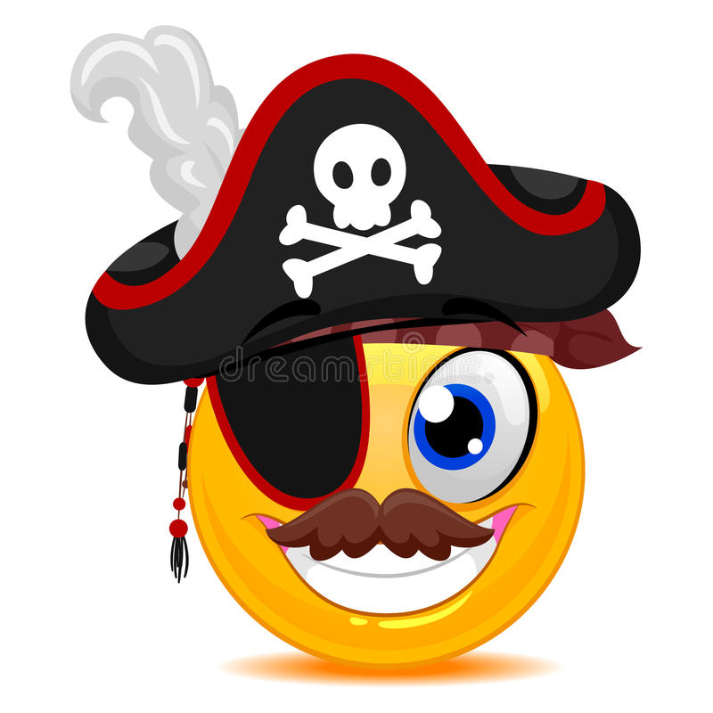 Smiley Pirate ilustración del vector