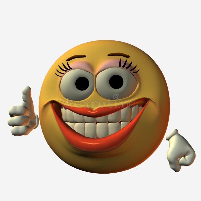 Smiley-Polegar acima ilustração royalty free