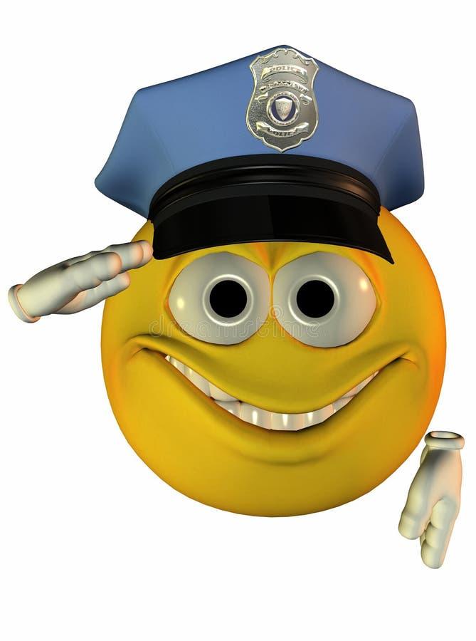 Smiley Policeman Saluting Royalty Free Stock Photo