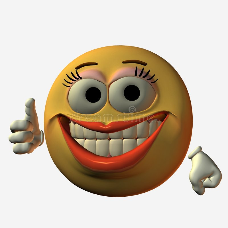 Smiley-Pollice in su royalty illustrazione gratis