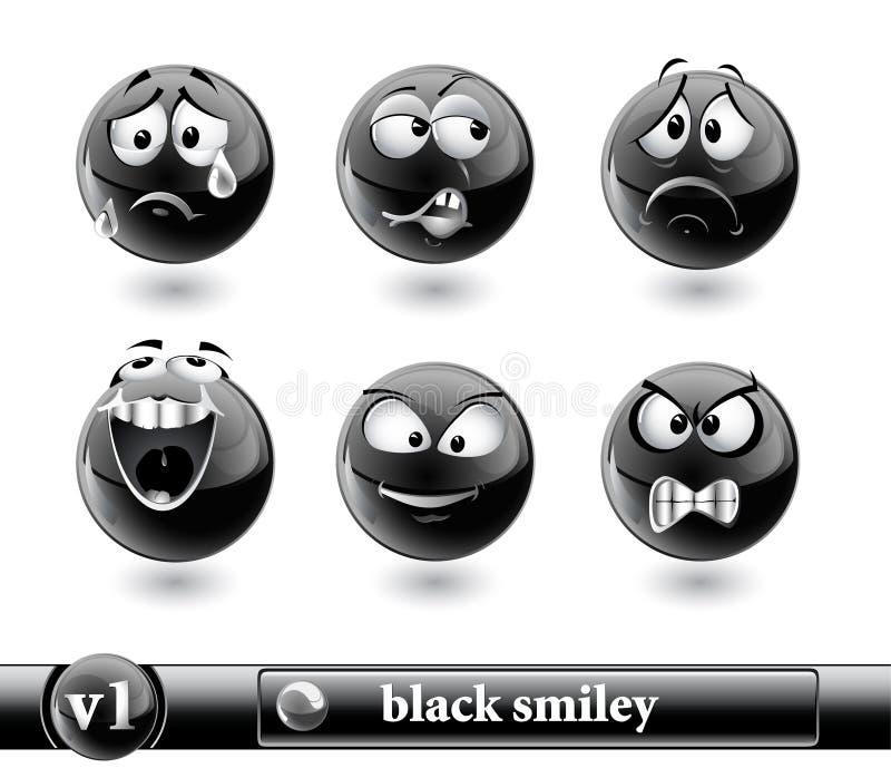 Smiley preto. vol1 ilustração stock