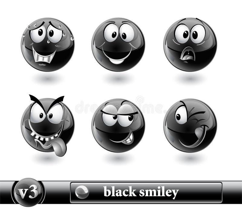 Smiley preto. vol3 ilustração royalty free