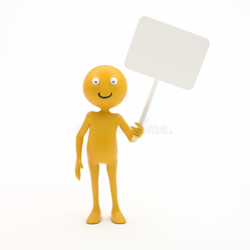 Smiley que lleva a cabo una muestra libre illustration