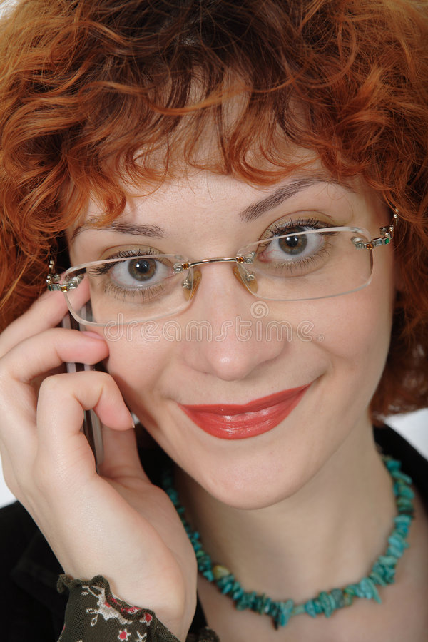 Download Smiley Redhead 2 stock photo. Image of lipstick, looking - 1623238