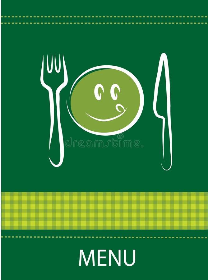 Smiley restaurant menu design stock illustration